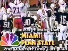 Miami vs Penn State in the 1987 Fiesta Bowl