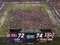 Texas A&M Defeats LSU 74 to 72 in Epic 7OT Thriller
