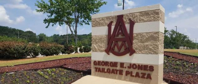 AAMU's George E. Jones Tailgate Plaza.