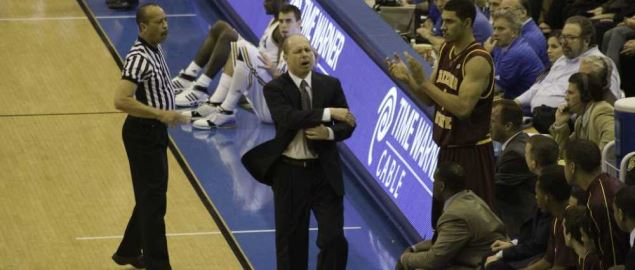 Arizona State University head coach Herb Sendek and players during '08 UCLA game.