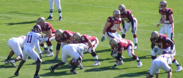 Opening play of the 2007 ACC Championship between Boston College and the Virginia Tech.