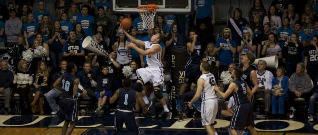 Butler's Austin Etherington reverse layup vs Maine.