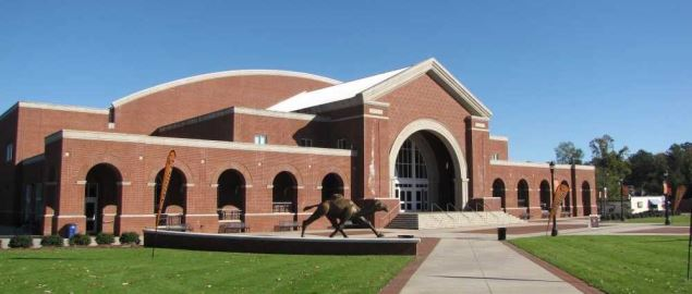 John W. Pope, Jr. Convocation Center at Campbell University.