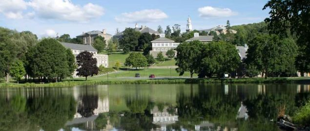 A view of Colgate University campus.