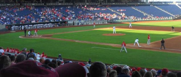 Creighton playing Nebraska at TD Ameritrade Park in 2012.