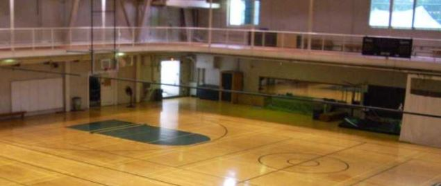 Alumni Gymnasium at the campus of Dartmouth College in Hanover, New Hampshire.