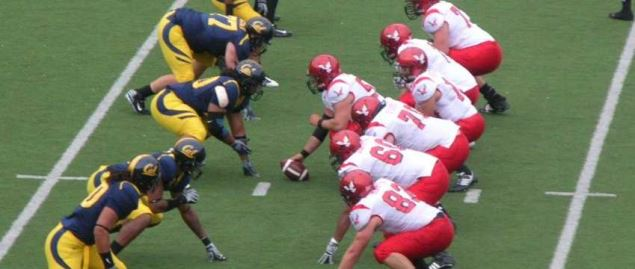 The Eastern Washington Eagles on offense during a road game against Cal.