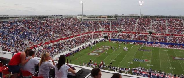 North endzone of FAU Stadium on Opening Day of 2011 season.