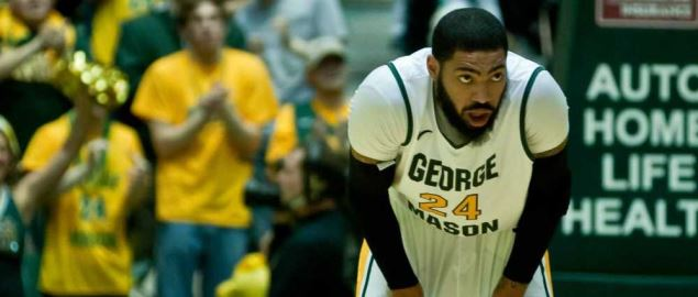 Ryan Pearson playing in 2012 for the George Mason Patriots.