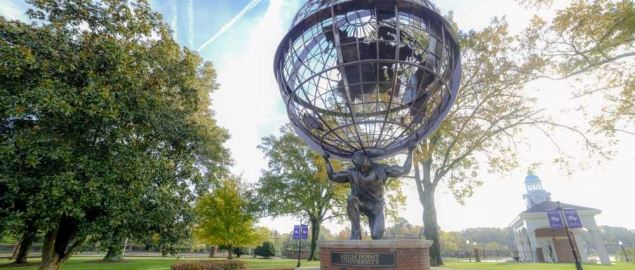 Atlas Statue at High Point University.
