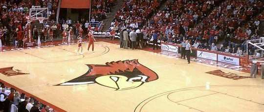 Redbird Arena during a game between the Illinois State Redbirds and UNLV, 12/1/10.
