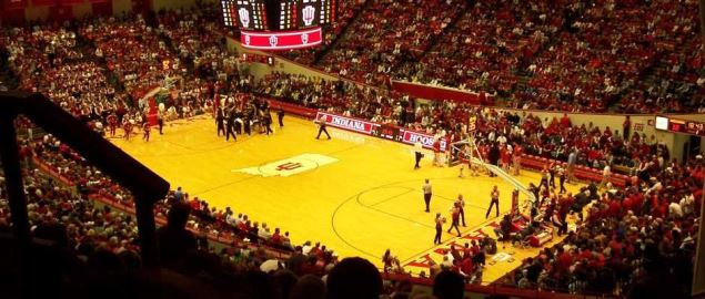 Indiana's home court vs Iowa.
