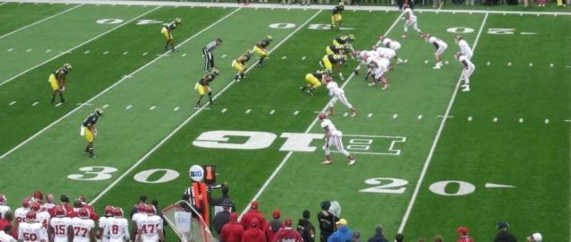 Indiana on offense during the Indiana Hoosiers vs. Michigan Wolverines 2013 football game.