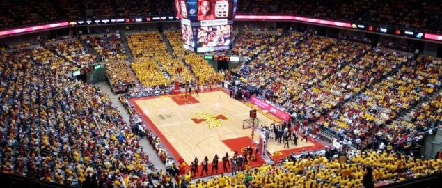 Iowa State Cyclones vs. Kansas, at Iowa state arena.