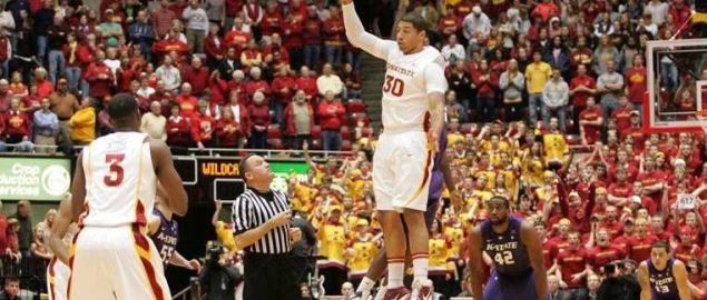 Kansas State vs. Iowa State start of game tipoff.