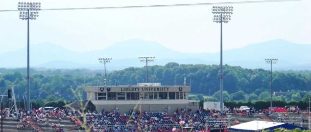 Liberty University Football Stadium.