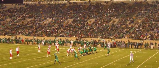 Marshall vs University of Houston in 2008 home game at Joan C. Edwards Stadium.