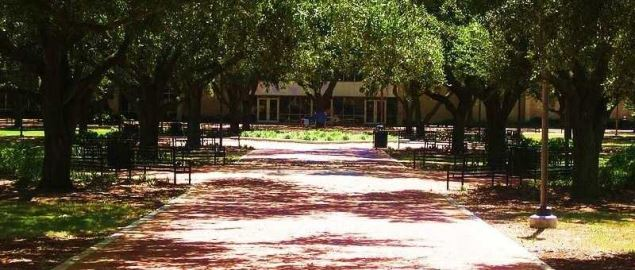 Quad on the campus of McNeese.