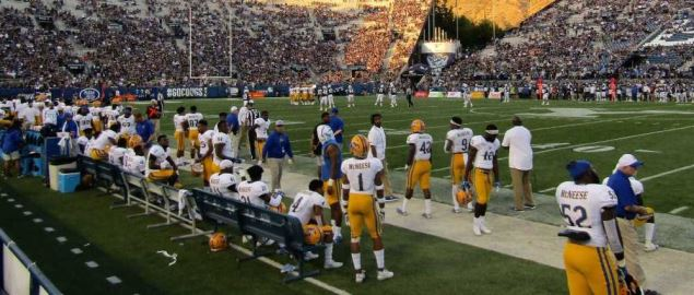 The BYU Cougars v. McNeese State Cowboys football game.