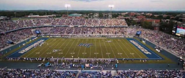 MTSU's centennial celebration game vs Georgia Tech in 2011 home game.
