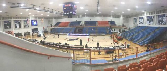 The interior of Hill Field House on the campus of Morgan State University in Baltimore, MD