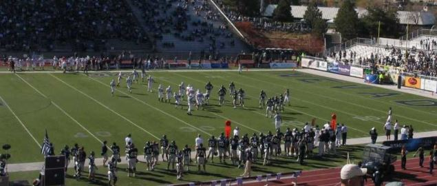 New Mexico State on offense vs the University of Nevada during a 2006 away game.