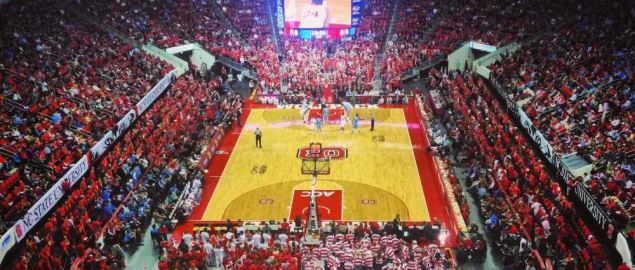 NC State Wolfpack's PNC Arena during a 2014 home game vs North Carolina.