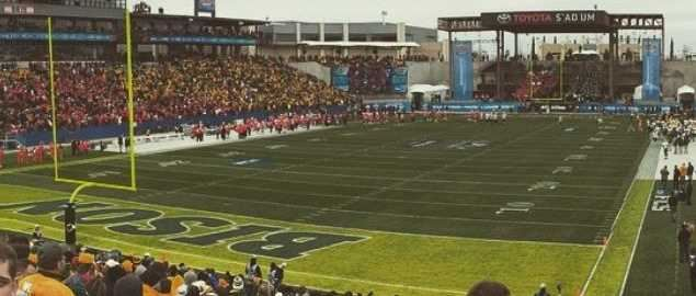 2015 FCS National Championship game between North Dakota State and Jacksonville State.