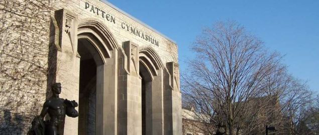 Patten Gymnasium at Northwestern University in Evanston, Illinois.