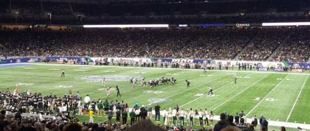 Ohio Bobcats on offense vs Western Michigan in 2016 MAC Championship game.