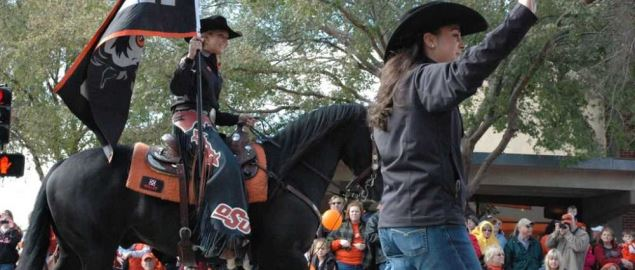 OSU Spirit rider in the 2009 Homecoming Parade.