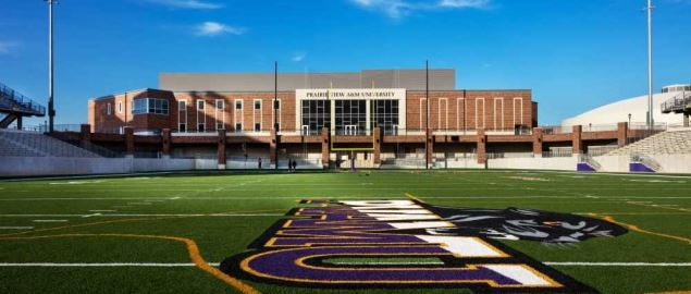 The Prairie View A&M football stadium.