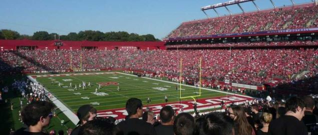 High Point Solutions Stadium at Rutgers University during a 2012 home game.
