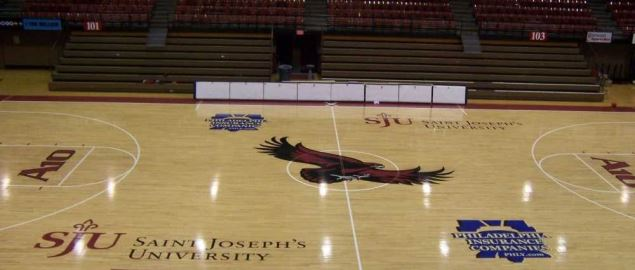 Alumni Memorial Fieldhouse on the campus of Saint Joseph's University.