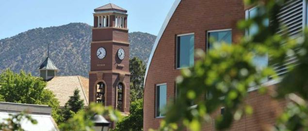 A view of the Carter Carillon Bell Tower on SUU's campus.