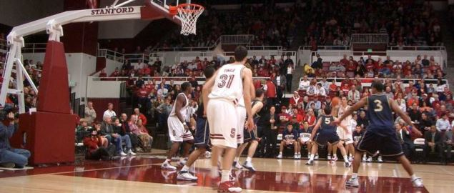 Stanford vs UC Davis in the Maples Pavilion on 12/18/2004.
