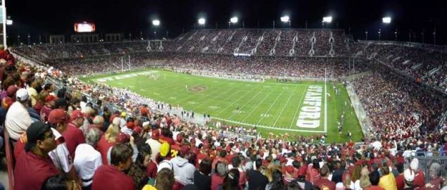4th quarter action for Stanford hosting USC to a sold out crowd in 2008.