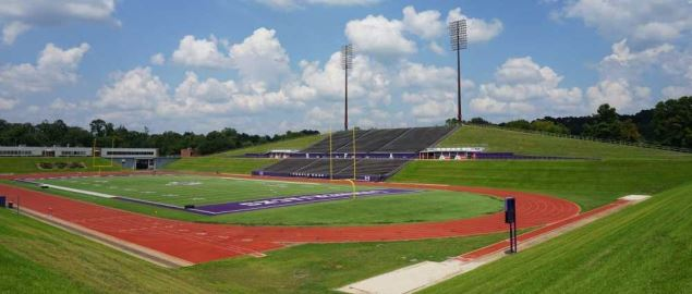 Homer Bryce Stadium on the campus of Stephen F. Austin State University.