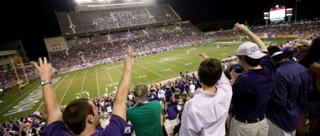 TCU's Amon G. Carter Stadium during a home game in 2008.