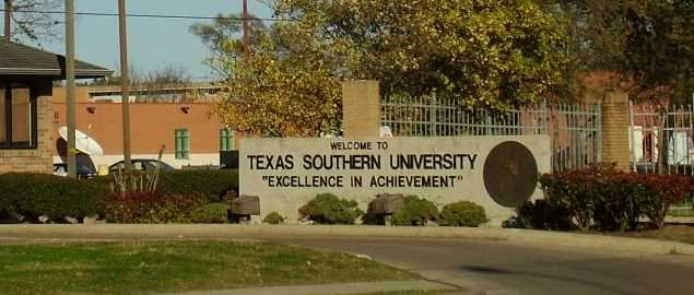Texas Southern University main entrance.
