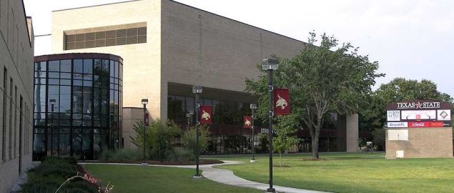 Texas State basketball arena Strahan Coliseum located in San Marcos, Texas, United States.