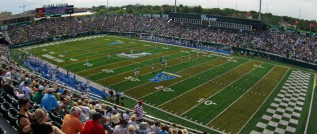 Tulane Green Wave's Yulman Stadium at Tulane University on opening day, Sept. 6, 2014.