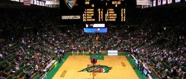 Bartow Arena at the University of Alabama in Birmingham, home game against Butler.