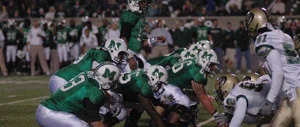 UAB Blazers on defense vs Marshall in 2007 away game.