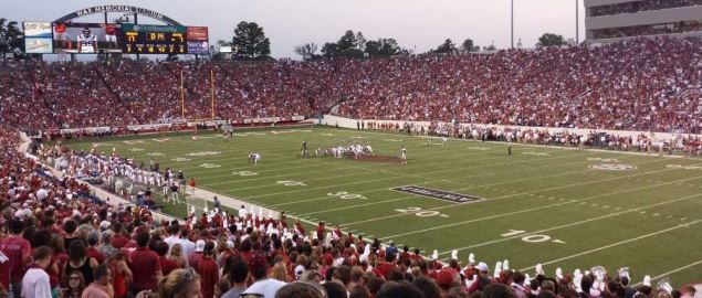 Arkansas Razorbacks hosting vs Samford Bulldogs at War Memorial Stadium, Little Rock, AR.