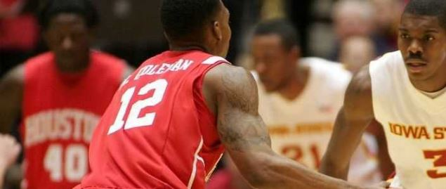 Aubrey Coleman of Houston vs Iowa State.