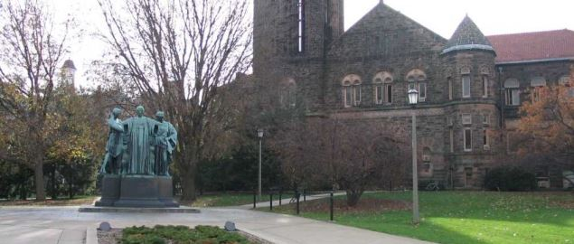 Alma Mater & Altgeld Hall at the University of Illinois, Champaign-Urbana.