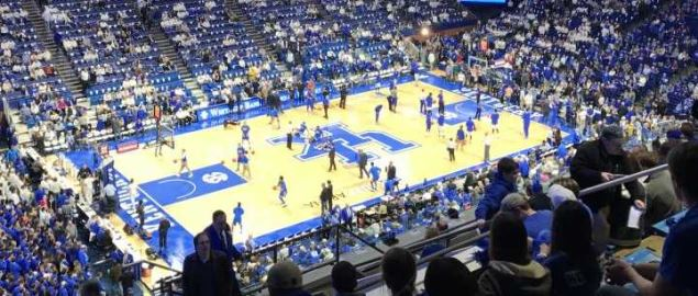 Kentucky's Rupp Arena vs UCLA on 12-03-16.