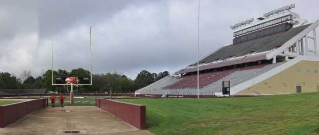 Malone Stadium on the campus of the University of Louisiana at Monroe.