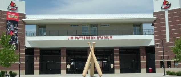 Front entrance of Jim Patterson Stadium for the Louisville Cardinals.